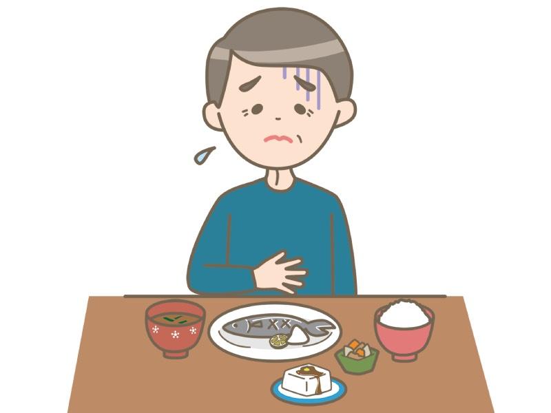 食欲不振のイラスト