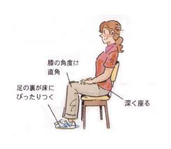 椅子の座り方_名古屋