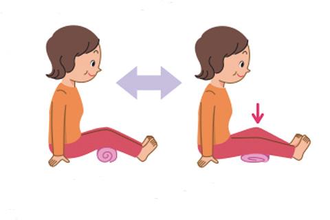 タオルで膝の運動