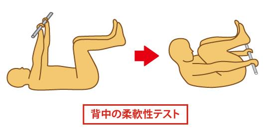 背中の柔軟テスト