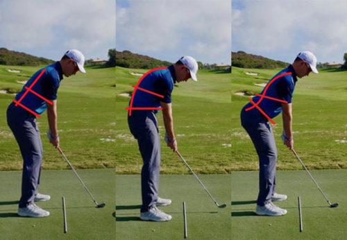 ゴルフの姿勢