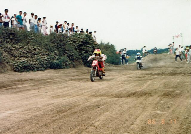 6歳頃のモトクロスのレース